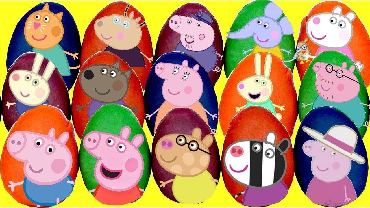 Download Muchos Playdoh de Huevos Sorpresa de Peppa Pig Cerdito y Sus Amigos