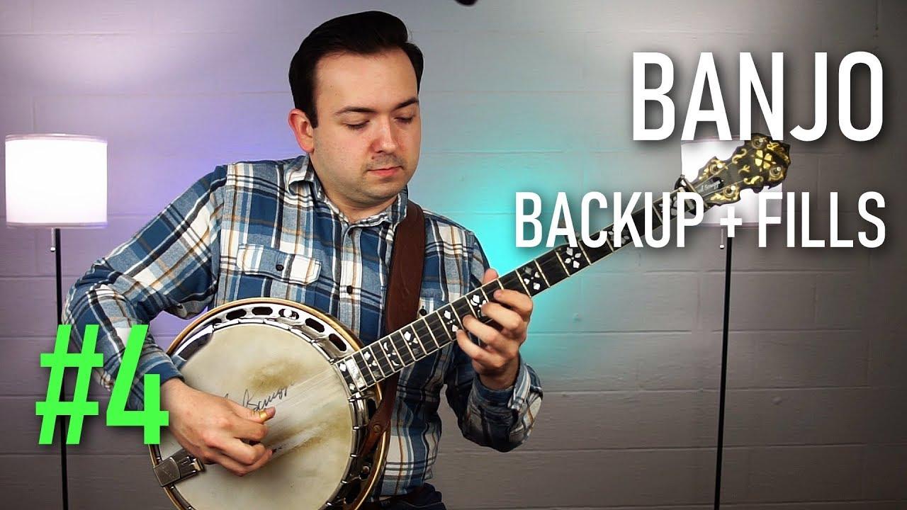 Bluegrass Banjo Lesson | Backup and Fill Licks #4