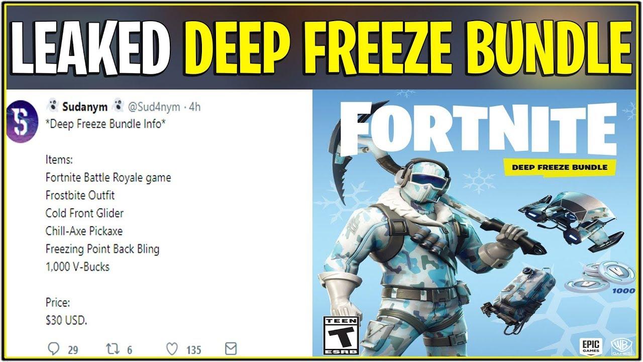 New Fortnite Leaked Deep Freeze Skin Bundle Coming Soon 30