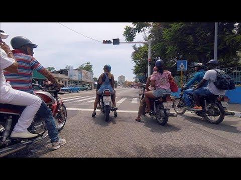 Driving in Santiago de Cuba