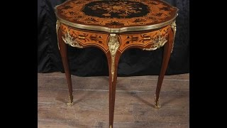 Louis Xv Side Table Marquetry Inlay