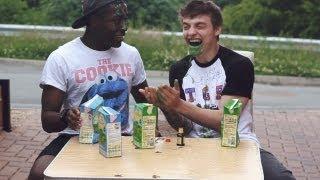 Drinking Green Custard (Custard Challenge)   TGFbro