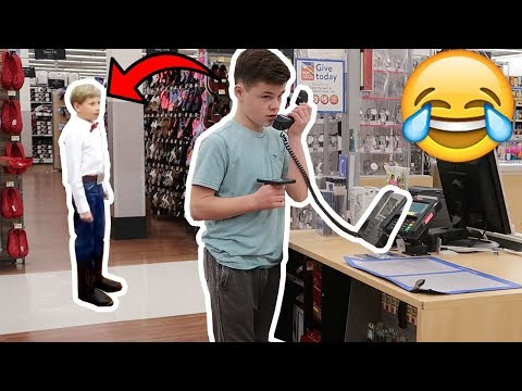 PLAYING THE YODELING KID ON THE WALMART INTERCOM!