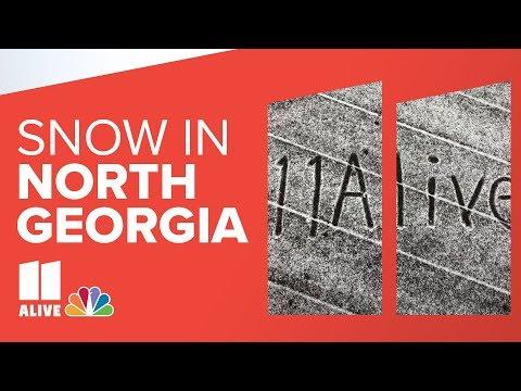 Snow Falls In North Georgia And Metro Atlanta | Live Video