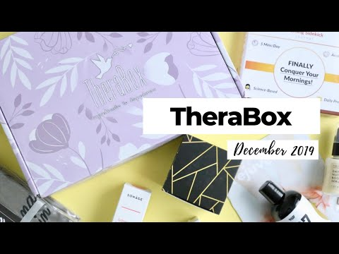 TheraBox Unboxing December 2019: Wellness Subscription Box