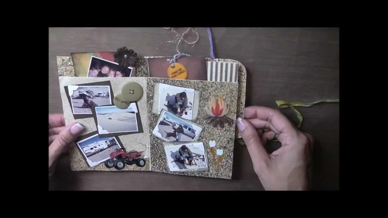 Mini Album Made Using A Manila Folder