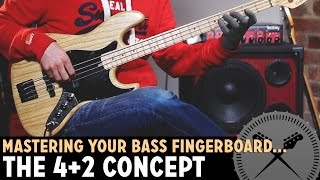 How to Master Your Bass Fretboard - The 4+2 Positioning Concept /// Bass Lesson with Scott Devine