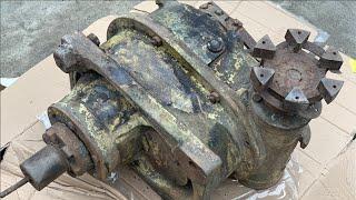 Restoration Box Reduce speed giant old | Restore gear screw winch rusty