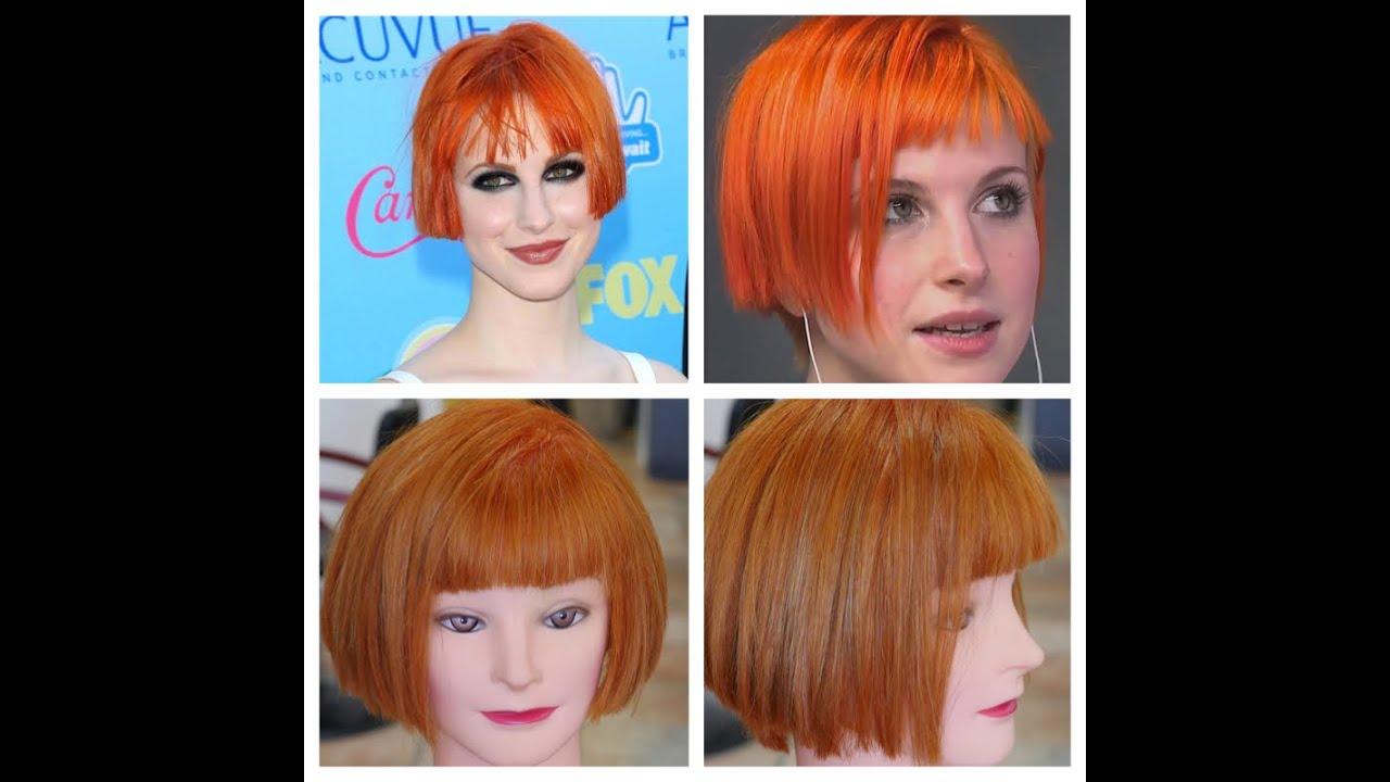 Hayley Williams Haircolor Haircut Tutorial