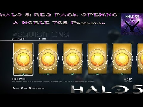 HALO 5 - 100 DOLLARS WORTH OF REQS!!! 50 REQ PACK OPENING!!!