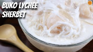 Creamy Buko Lychee Sherbet | How To Make Sherbet | Mortar and Pastry