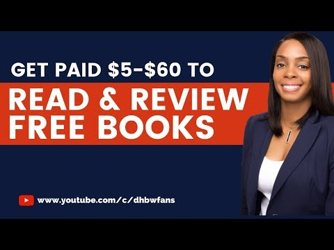 How To Get Paid $5-$60 To Read & Review Free Books Online
