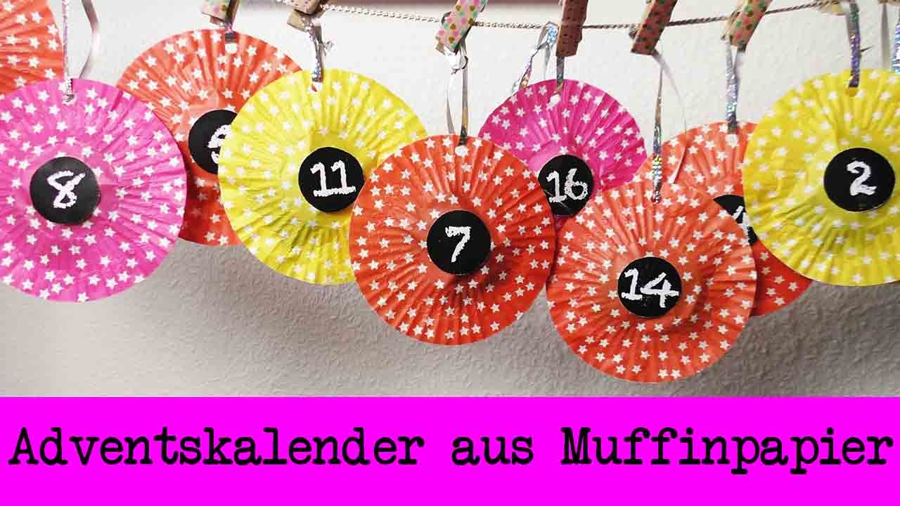 diy adventskalender aus muffinspapier super einfachen adventskalender basteln zum aufh ngen. Black Bedroom Furniture Sets. Home Design Ideas