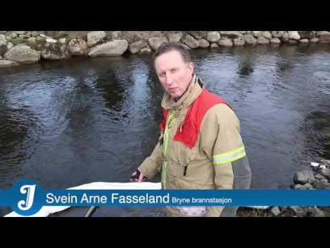 Utslepp i Roslandsåna (5. mars 2014)