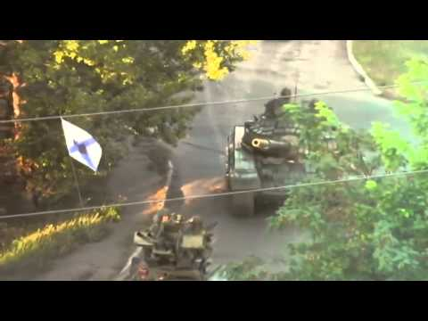 Russian tanks in east Ukraine: Kremlin denies launching regular army invasion of Donbas