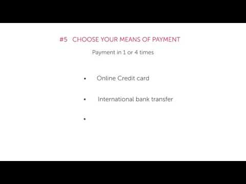 6 - How can you pay your tuition fees?