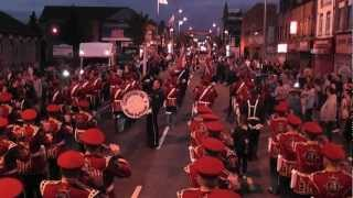 Gertrude Star Flute Band Finish Their Parade 2012