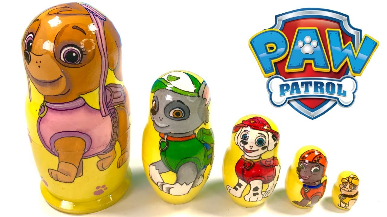 Fizzy Fun Toys: Paw Patrol Nesting Eggs Stacking Cups Educational Colors
