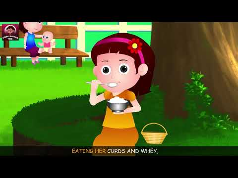 Little Miss Muffet English Rhyme with Lyrics