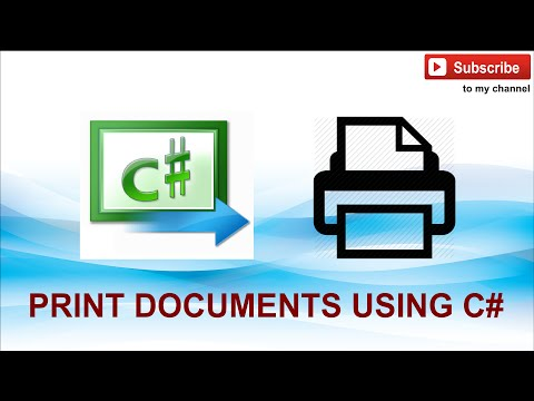 How To Print A Document Using C#