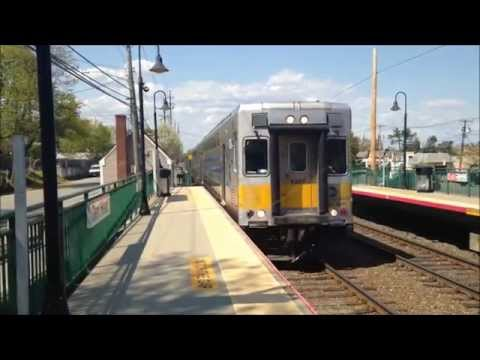 LIRR Oyster Bay Branch Trains at Greenvale and Glen Head