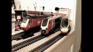 A Day With UK's Virgin Trains/Railways. Hornby Triang etc.