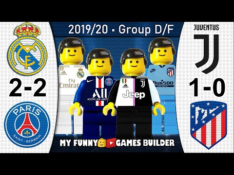 Real Madrid vs PSG 2-2 • Juventus vs Atletico Madrid 1-0 • Champions League All Goals Lego Football