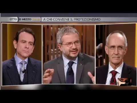 Claudio Borghi Aquilini Otto e Mezzo Ichino Minenna Integrale 28/01/2017
