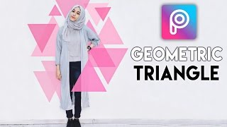 Cara Edit Geometric Triangle di Picsart Android dan iOS | Tutorial