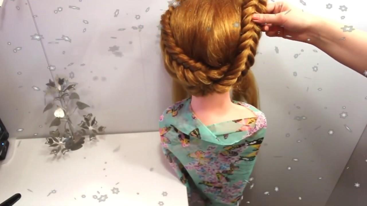 Прическа топ косы в тренде всегда Причёска на каждый день в школу можно украсить бантом