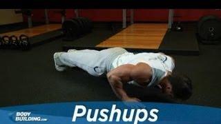 pushups chest exercise bodybuilding com