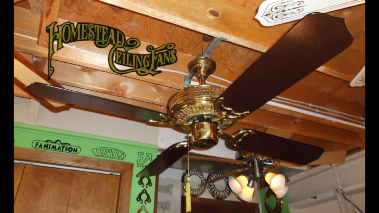 Homestead whisperfan i ceiling fan youtube homestead whisperfan i ceiling fan aloadofball Images