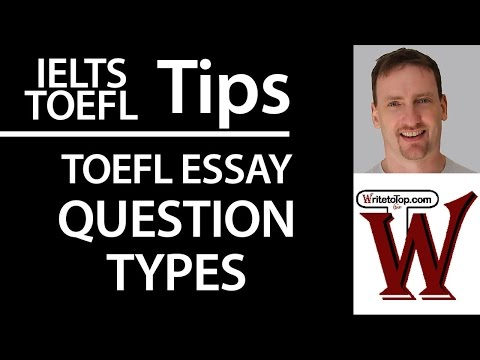 types of essay for toefl Info on the toefl essays if you are going to take the toefl on computer, you will now have to write an essay the score you receive will be part of your score.