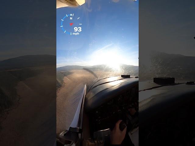 Bruce Meadows landing pronghorn near miss