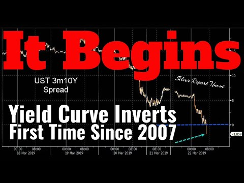 2019 Recession Warning! Stock Market Plunges as Yield Curve Inverts For The First Time Since 2007