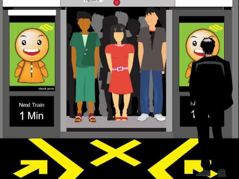 New Media - y2008 - Safety Guide System for MRT Station in Singapore