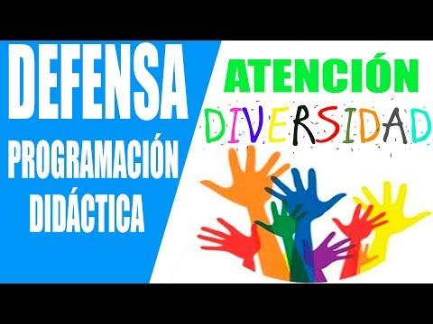 10. ATENCIÓN A LA DIVERSIDAD.  Defensa Programación Didáctica. Oposiciones Secundaria