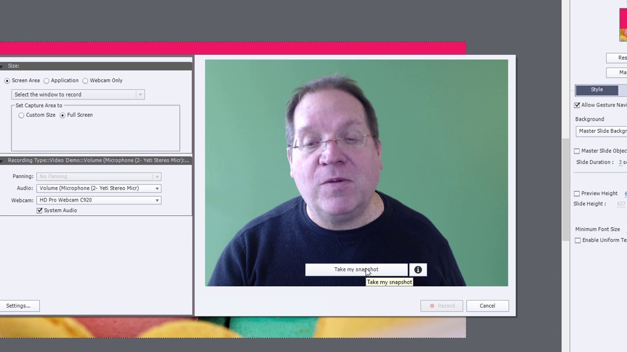 Record video demonstrations with adobe captivate.