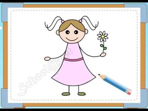 BÉ HỌA SĨ - Thực hành tập vẽ 103: Vẽ bé gái
