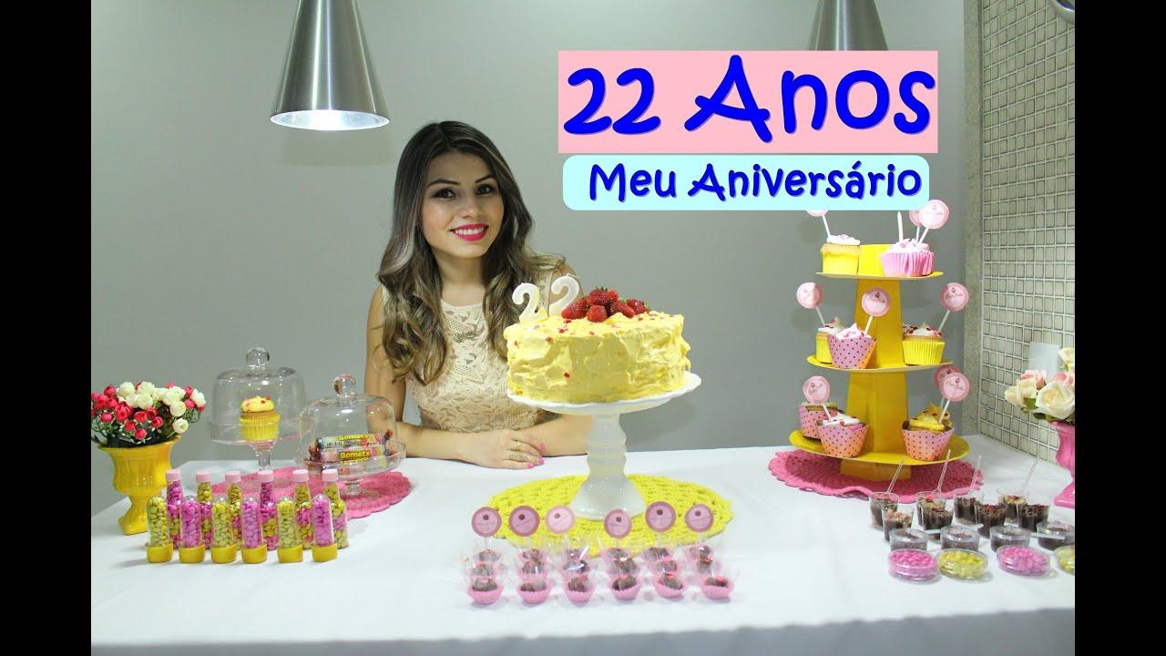 Meu Aniversário De 22 Anos Decoração Rosa E Amarelo 20122015