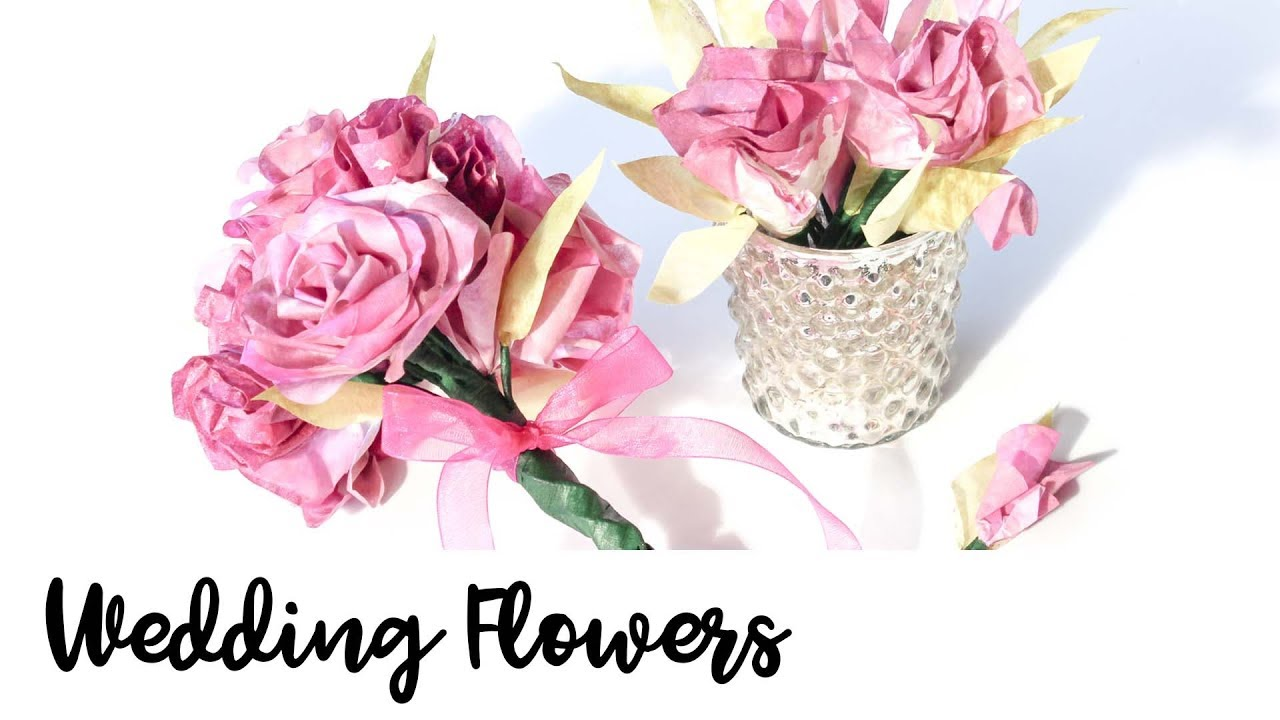 How To Make Wedding Flowers From Coffee Filters