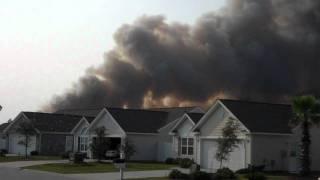 Fire near Avalon Carolina Forest - Myrtle Beach, SC