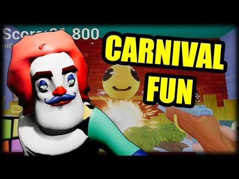 Clown Neighbor Carnival Game Hello Neighbor Mini Game