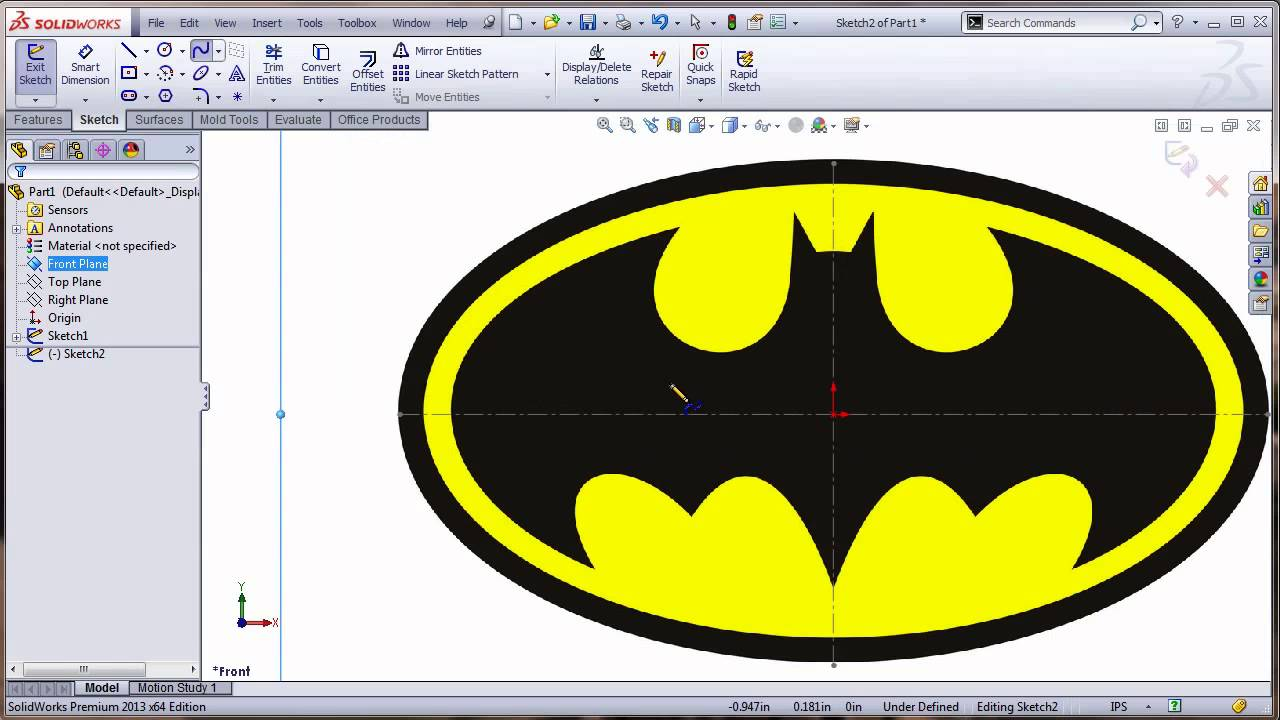 SolidWorks TNT - Import An Image Into SolidWorks and Create a SolidModel  Tips-N-Tricks