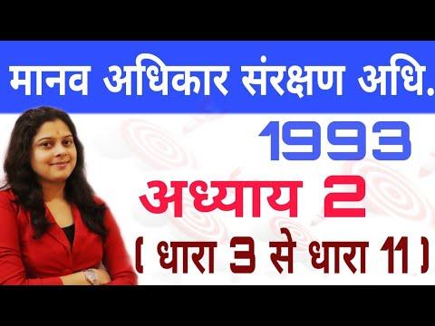 मानव अधिकार संरक्षण अधिनियम 1993 - HUMAN RIGHTS PROTECTION ACT 1993