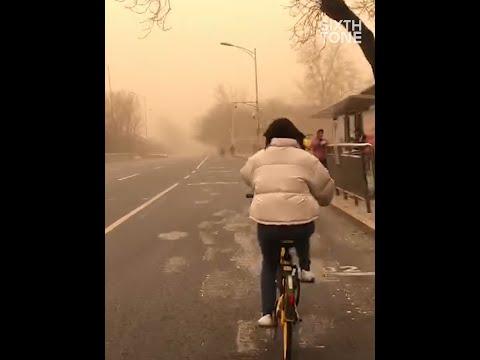 Severe Sandstorm Hits Northern China
