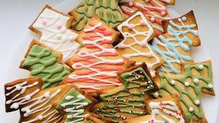Новогоднее печенье с глазурью, простой рецепт