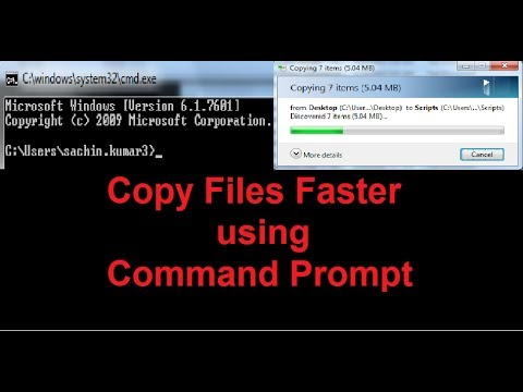 Copy Files and Folders Faster using Command Prompt