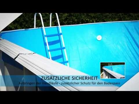 Stahlwandpool montage team pooldiscount youtube for Pool stahlwand oval