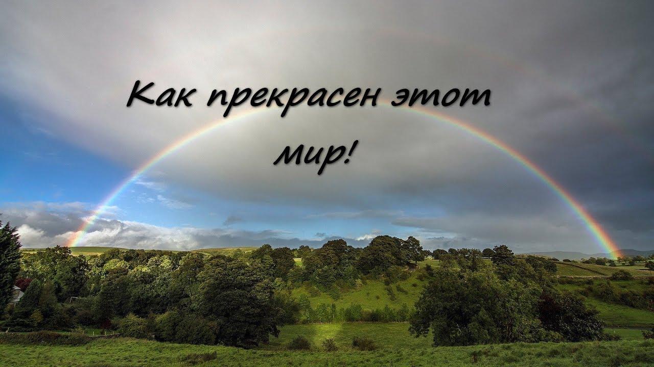 картинка с надписью как прекрасен этот мир каждом них